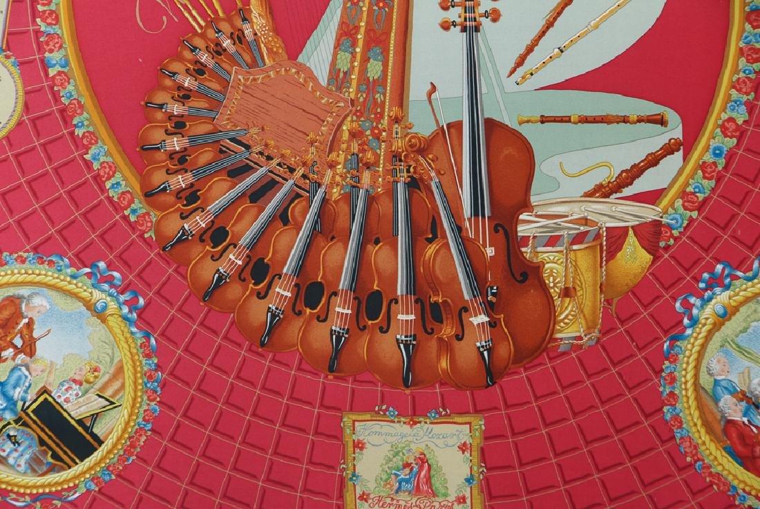 Framed Hermes Silk Scarf Mozart Theme - 5