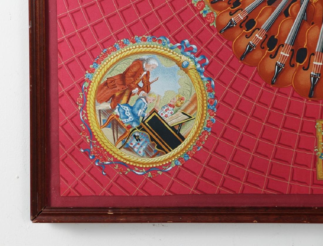 Framed Hermes Silk Scarf Mozart Theme - 6