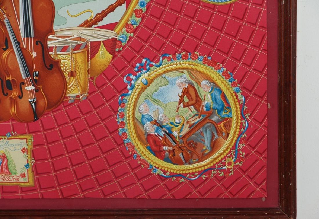 Framed Hermes Silk Scarf Mozart Theme - 7
