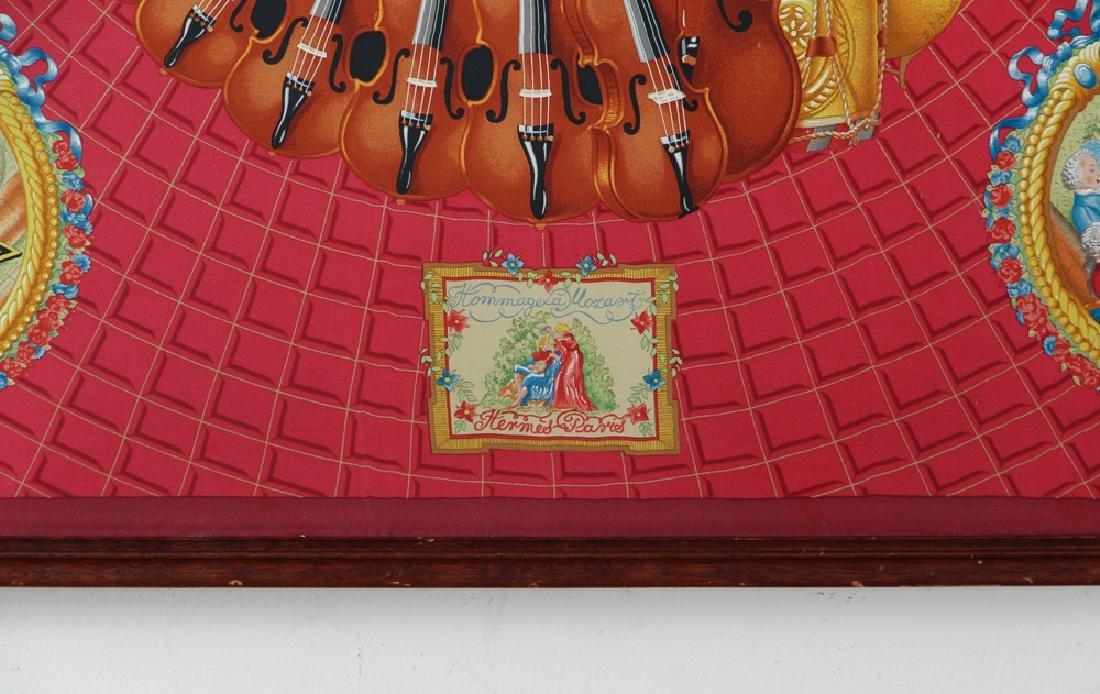 Framed Hermes Silk Scarf Mozart Theme - 8
