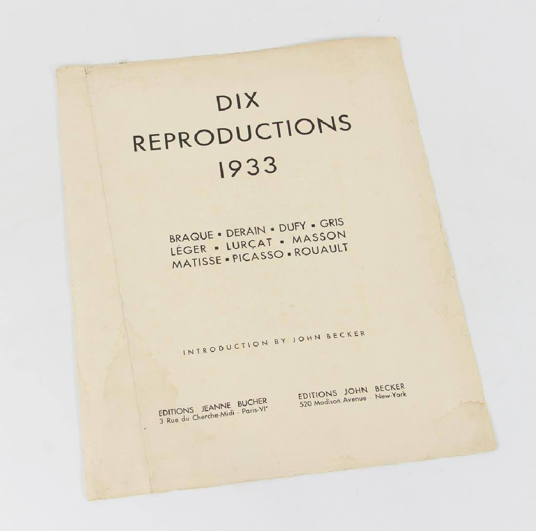Jean Lurcat porchoir from Dix Reproductions 1933 - 2