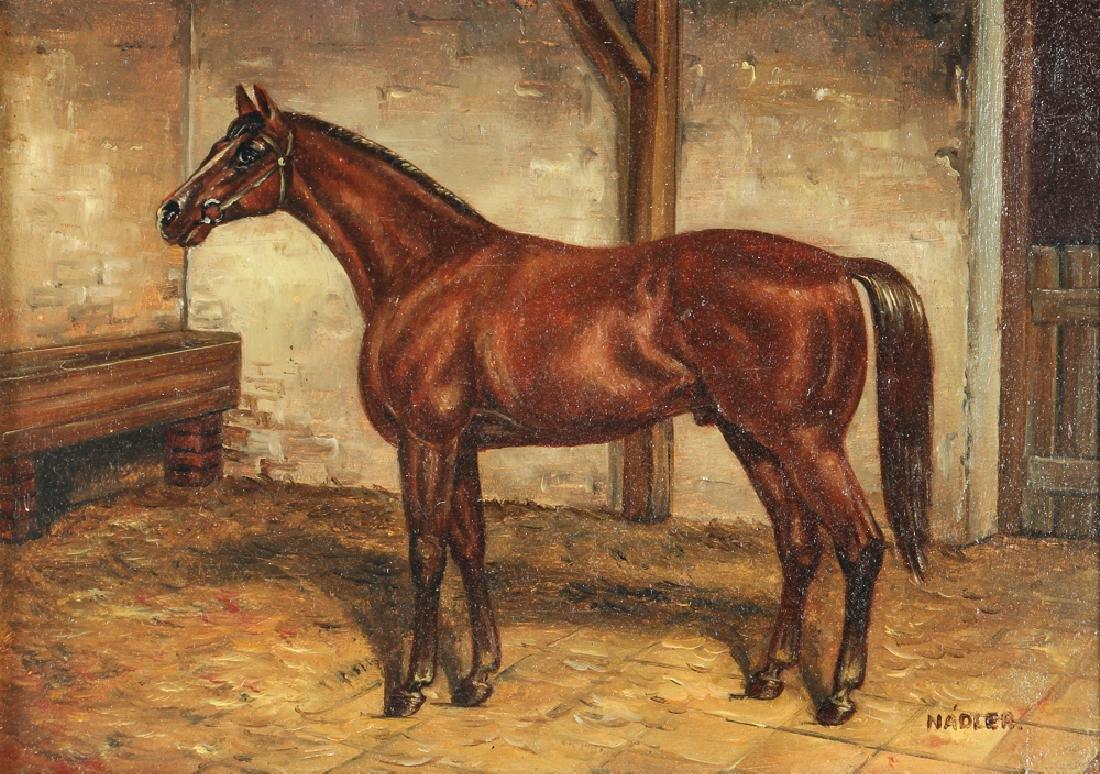 Robert Nadler Oil Painting of a Horse