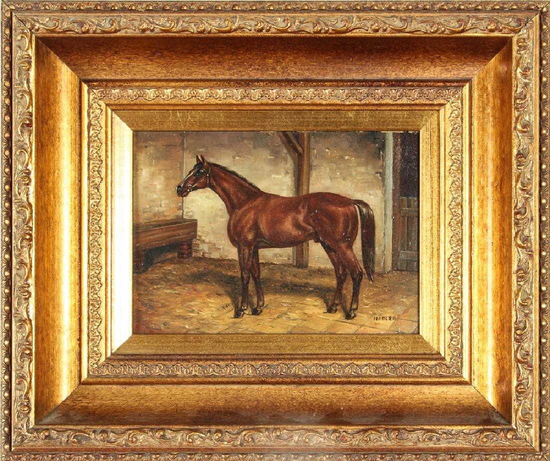 Robert Nadler Oil Painting of a Horse - 2