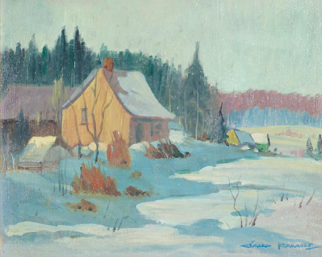 Gerard Perrault Canadian Winter Landscape Painting