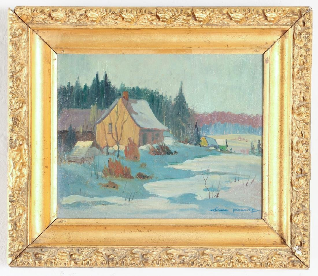Gerard Perrault Canadian Winter Landscape Painting - 2