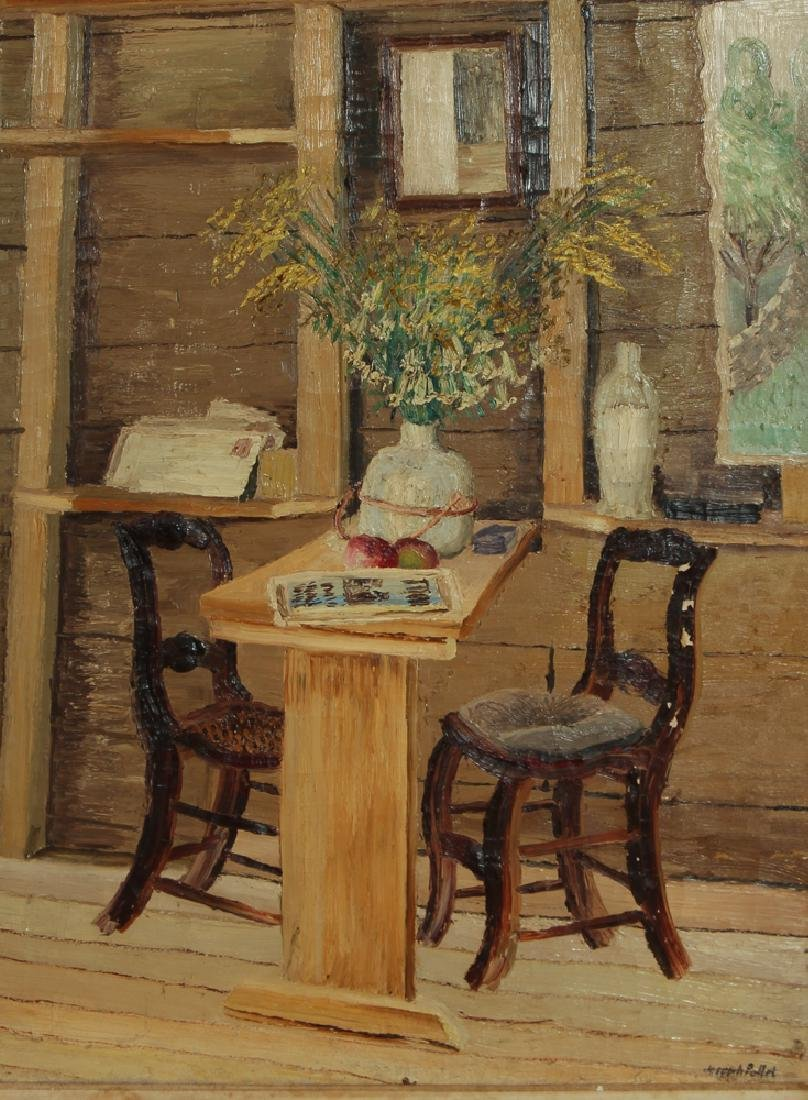 Joseph C. Pollet painting Room Interior Still Life