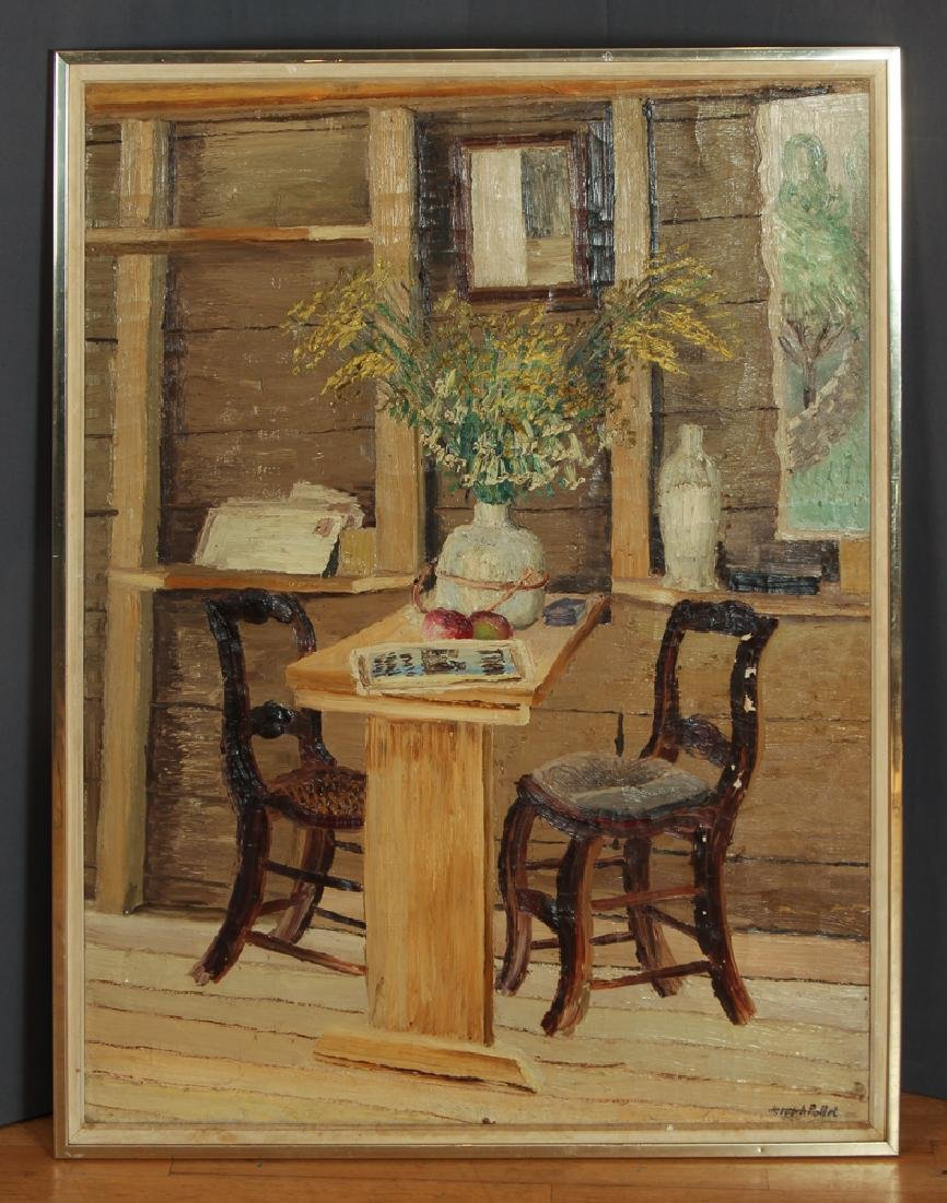 Joseph C. Pollet painting Room Interior Still Life - 2