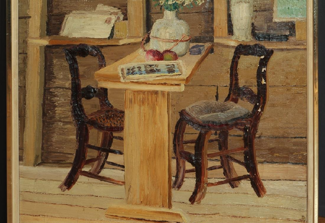 Joseph C. Pollet painting Room Interior Still Life - 4