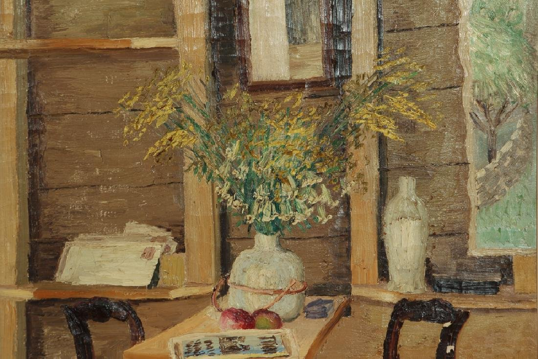 Joseph C. Pollet painting Room Interior Still Life - 5