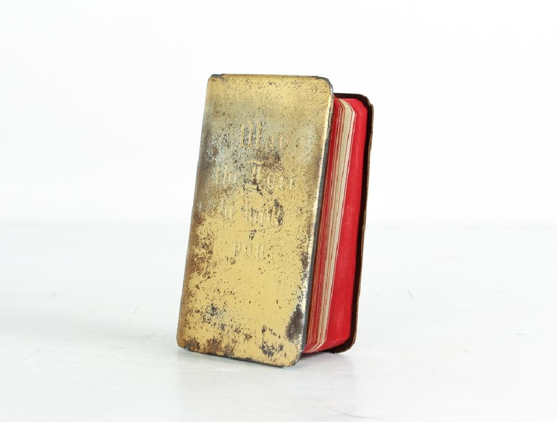 World War 2 Steel Covered Bible and Normandy Invasion - 2