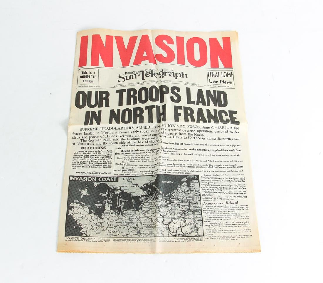 World War 2 Steel Covered Bible and Normandy Invasion - 4