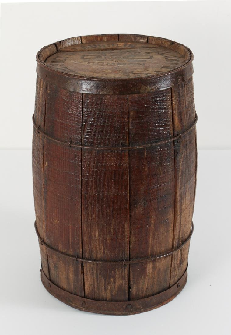 Jones and Laughlin Pittsburgh PA Wooden Nail Keg