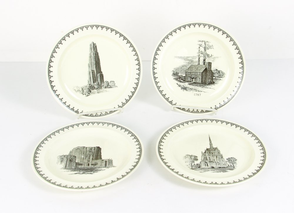 Four Pittsburgh Themed Plates By Wedgwood