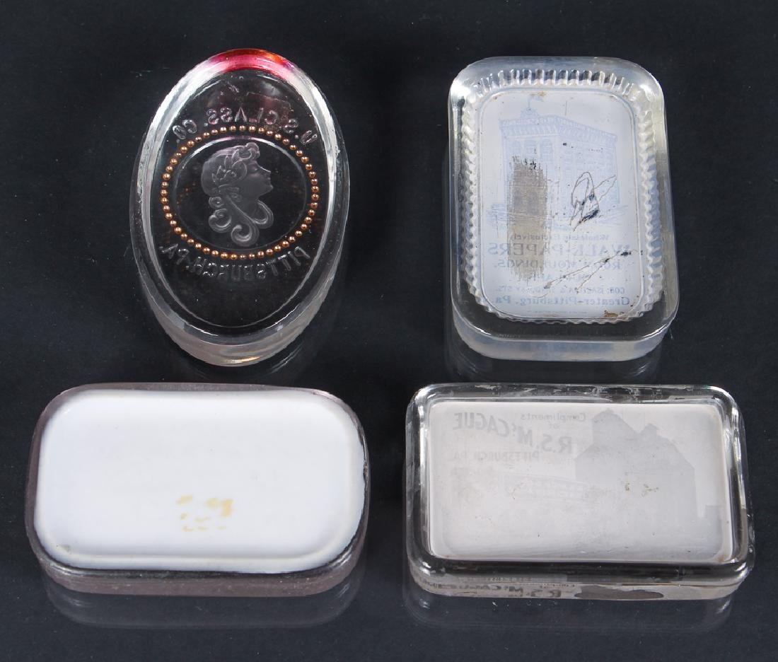 Four Glass Pittsburgh Related Paperweights - 2