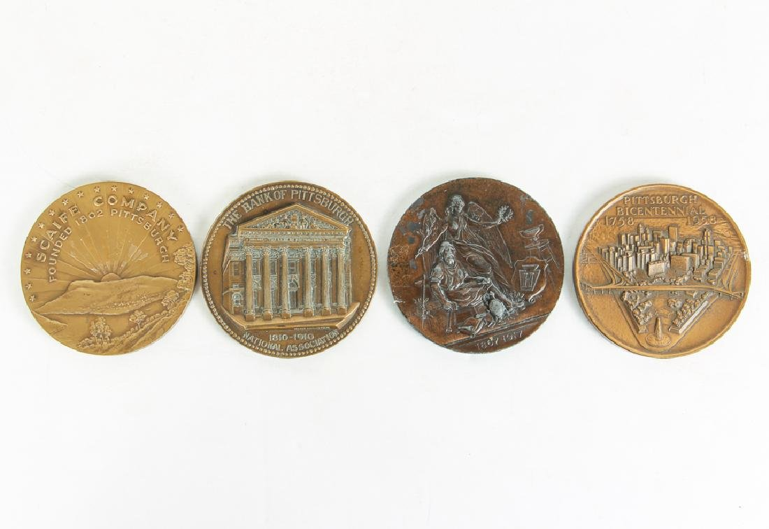 Four Pittsburgh Related Medallions