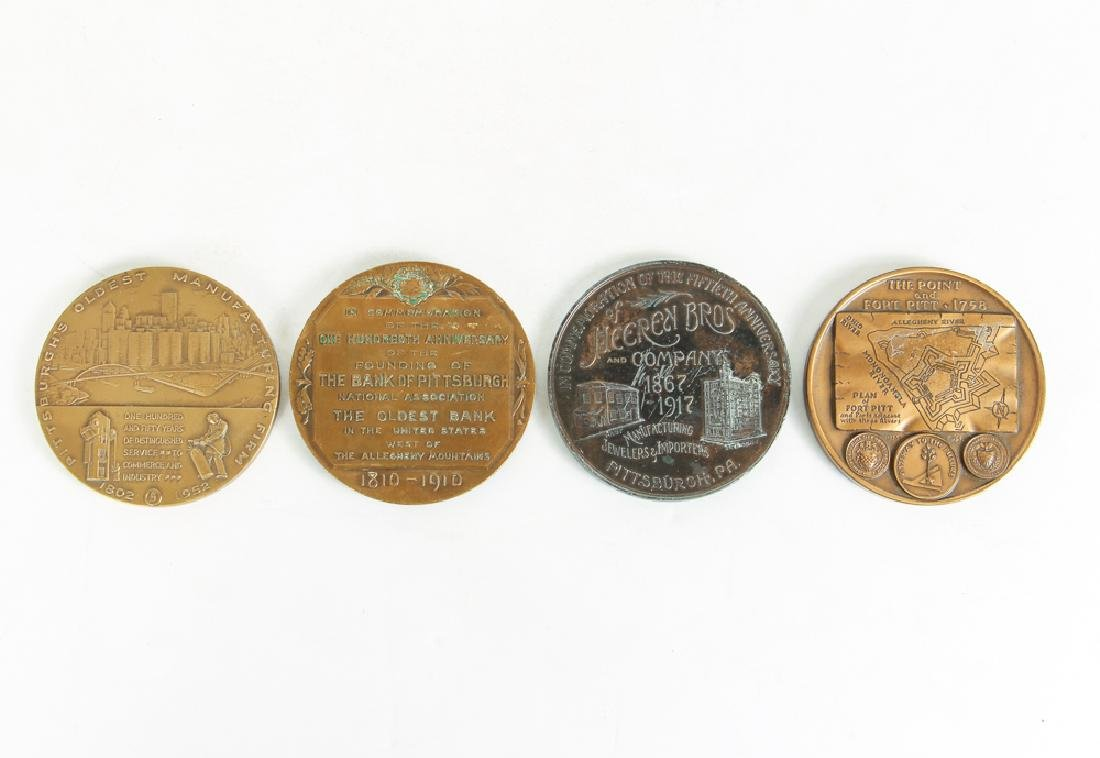 Four Pittsburgh Related Medallions - 2