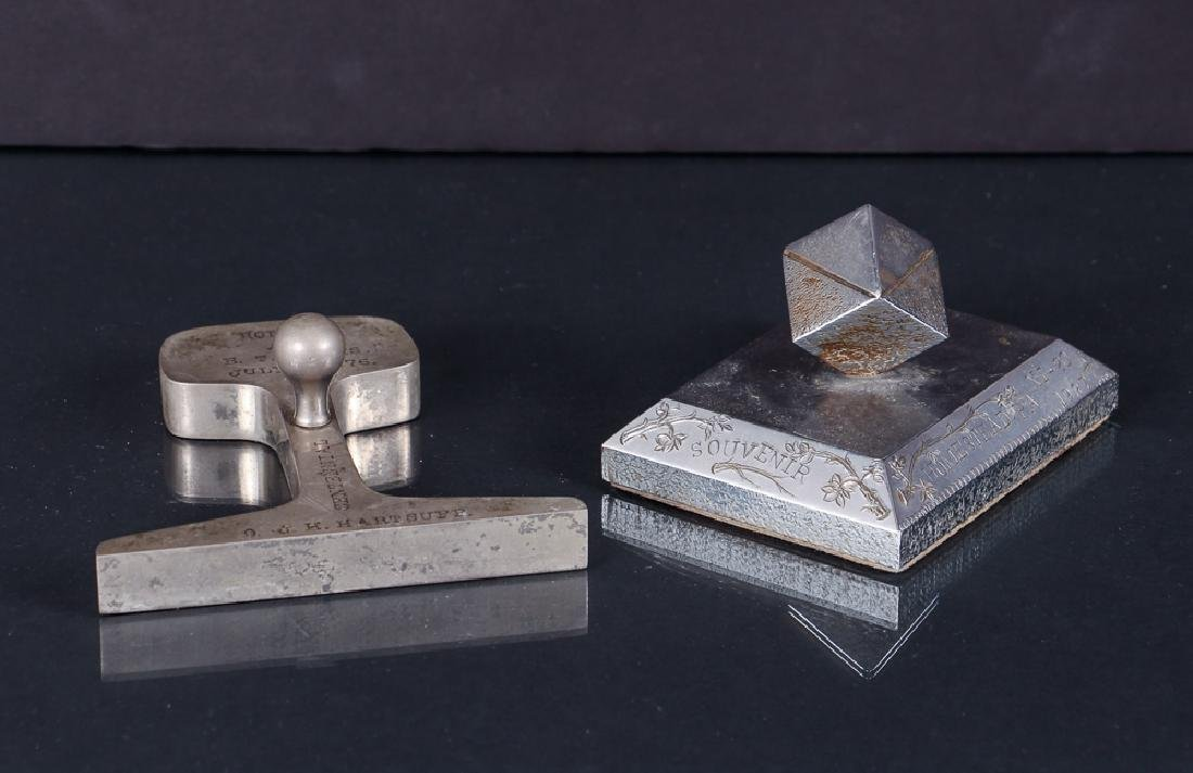Two Pittsburgh Steel Related Paperweights