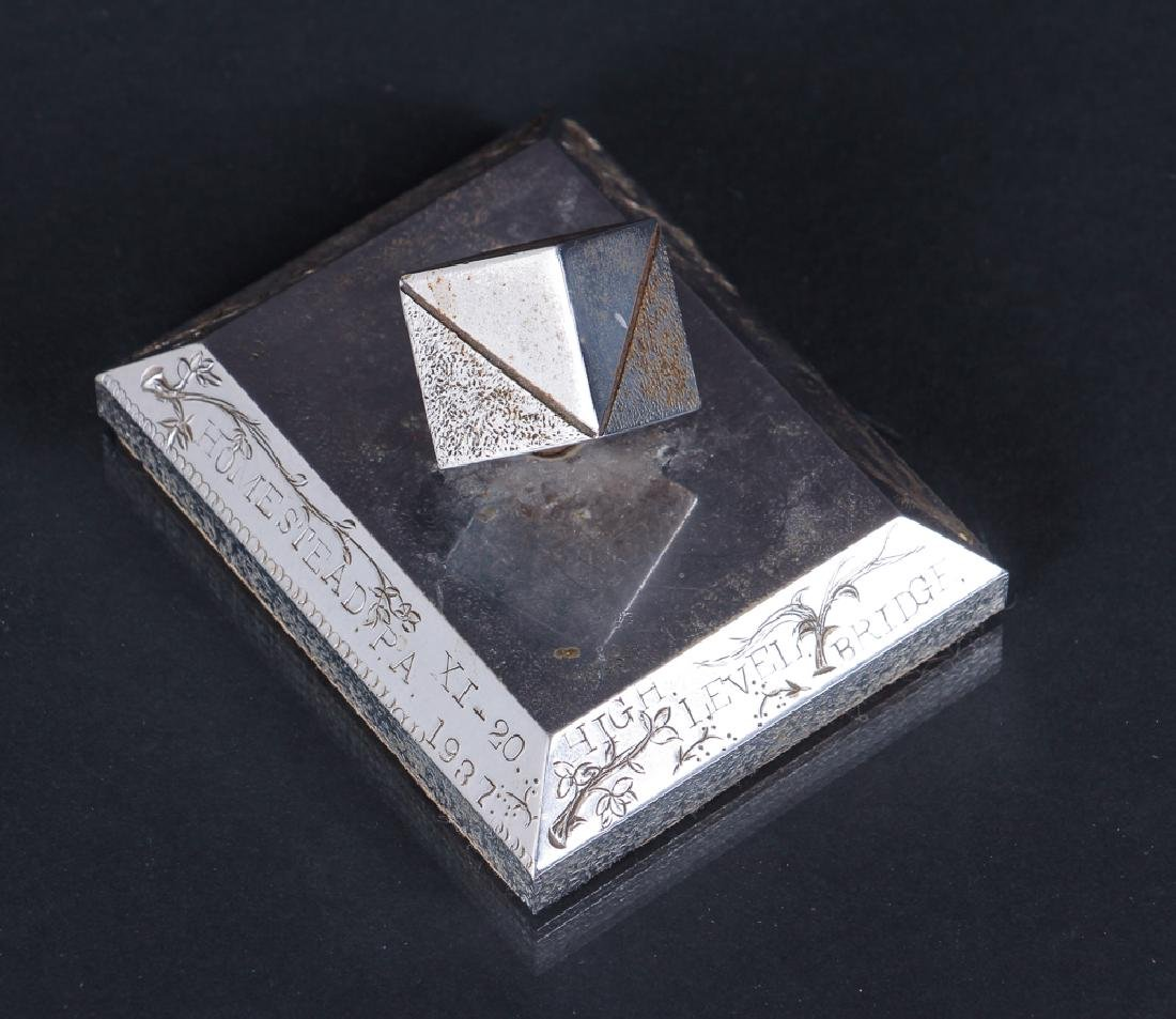 Two Pittsburgh Steel Related Paperweights - 4