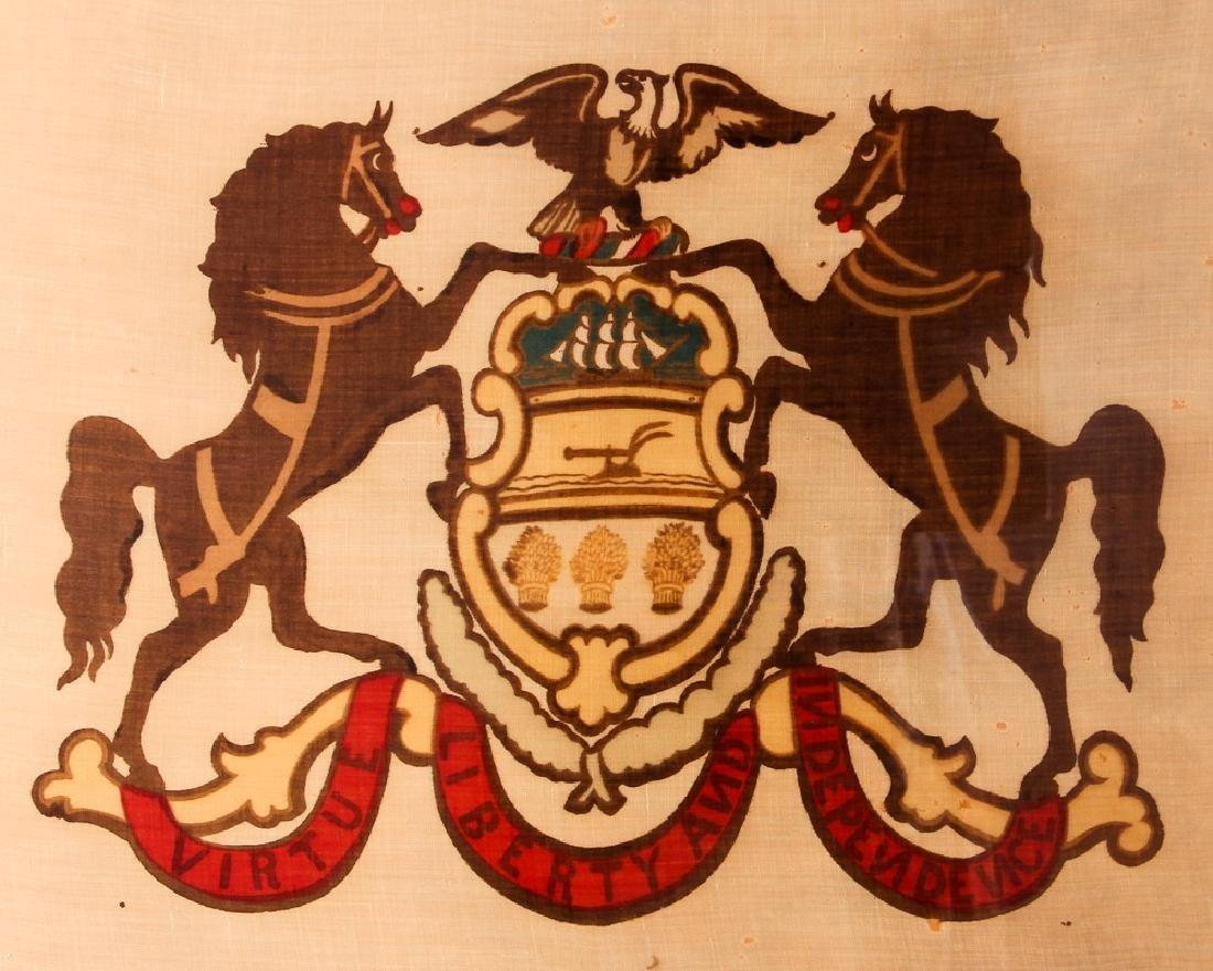 Pennsylvania State Seal on Linen