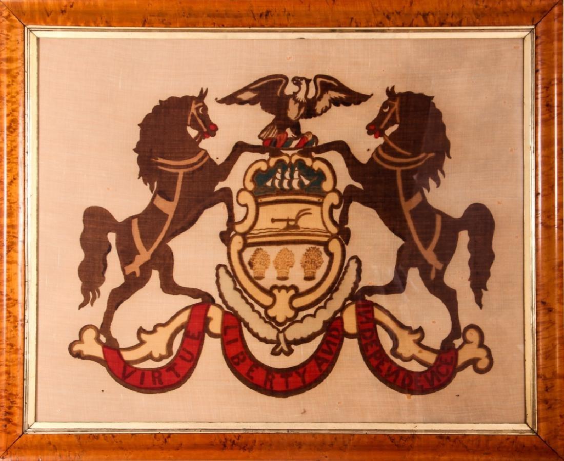 Pennsylvania State Seal on Linen - 2