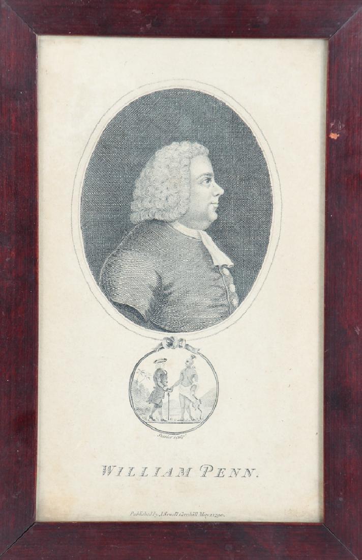 Early William Penn Steel Engraving