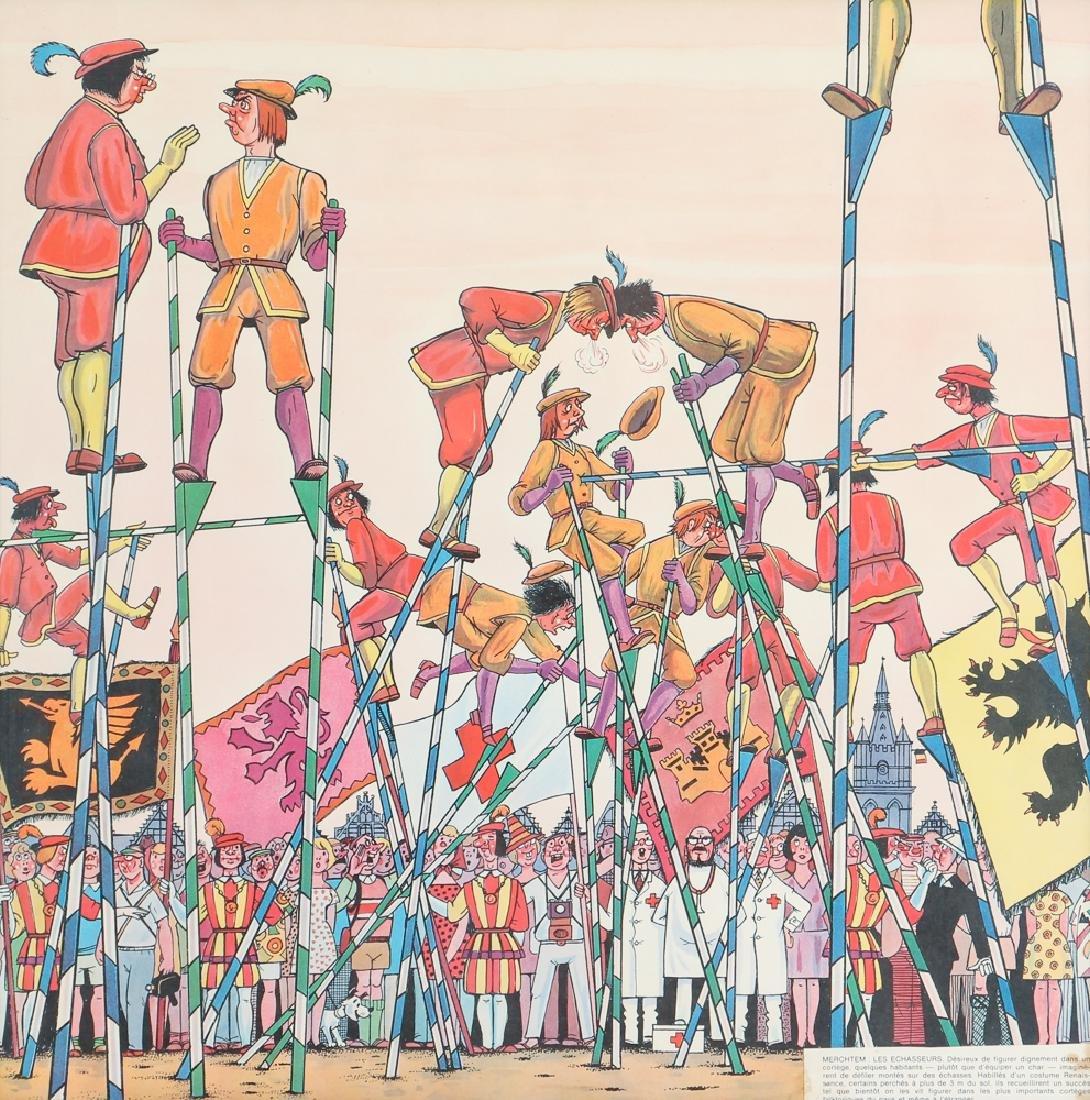 Two Mid Century Belgian Cartoons - 7