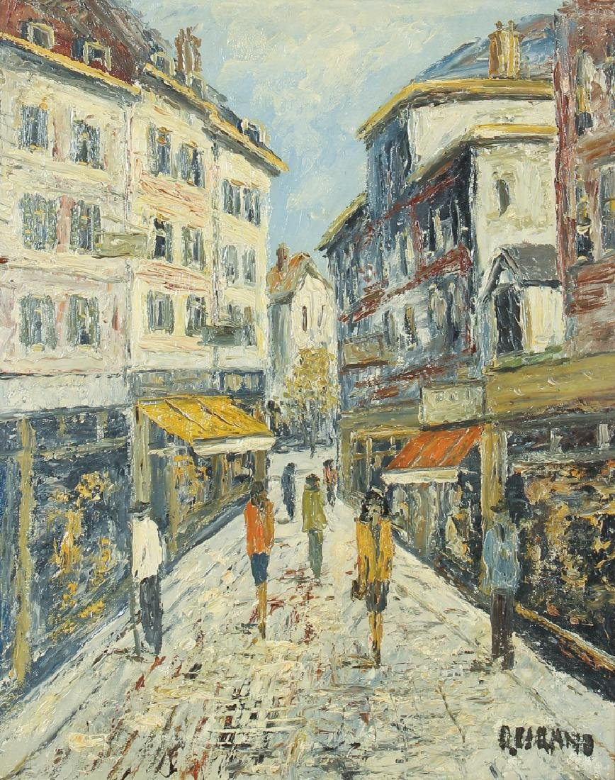 Cirano Castelfranchi Mid Century European Market Scene