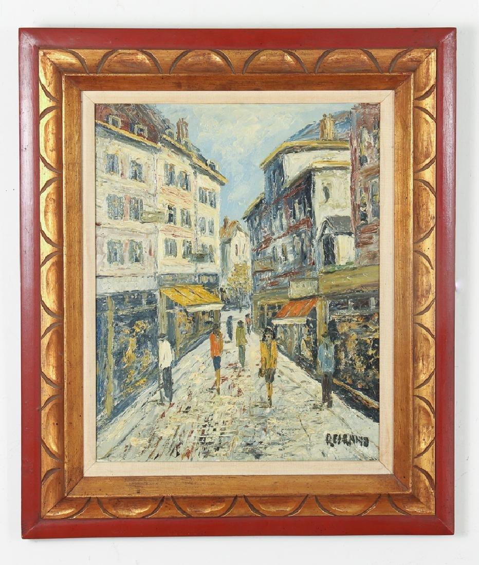Cirano Castelfranchi Mid Century European Market Scene - 2