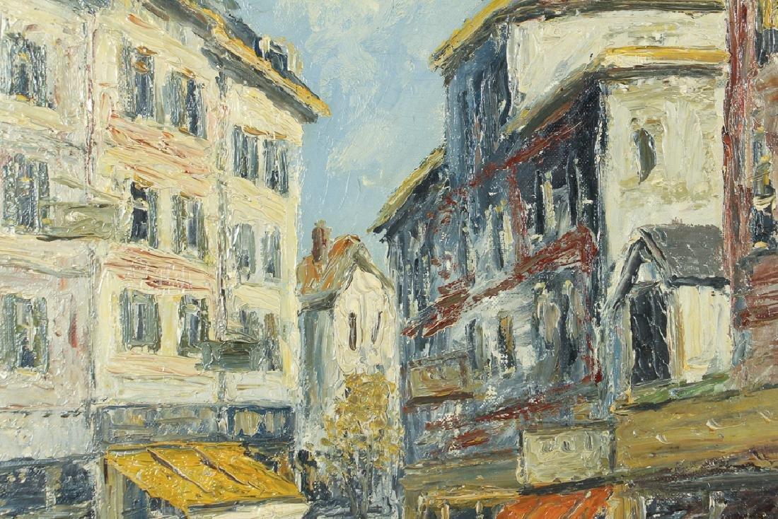 Cirano Castelfranchi Mid Century European Market Scene - 5