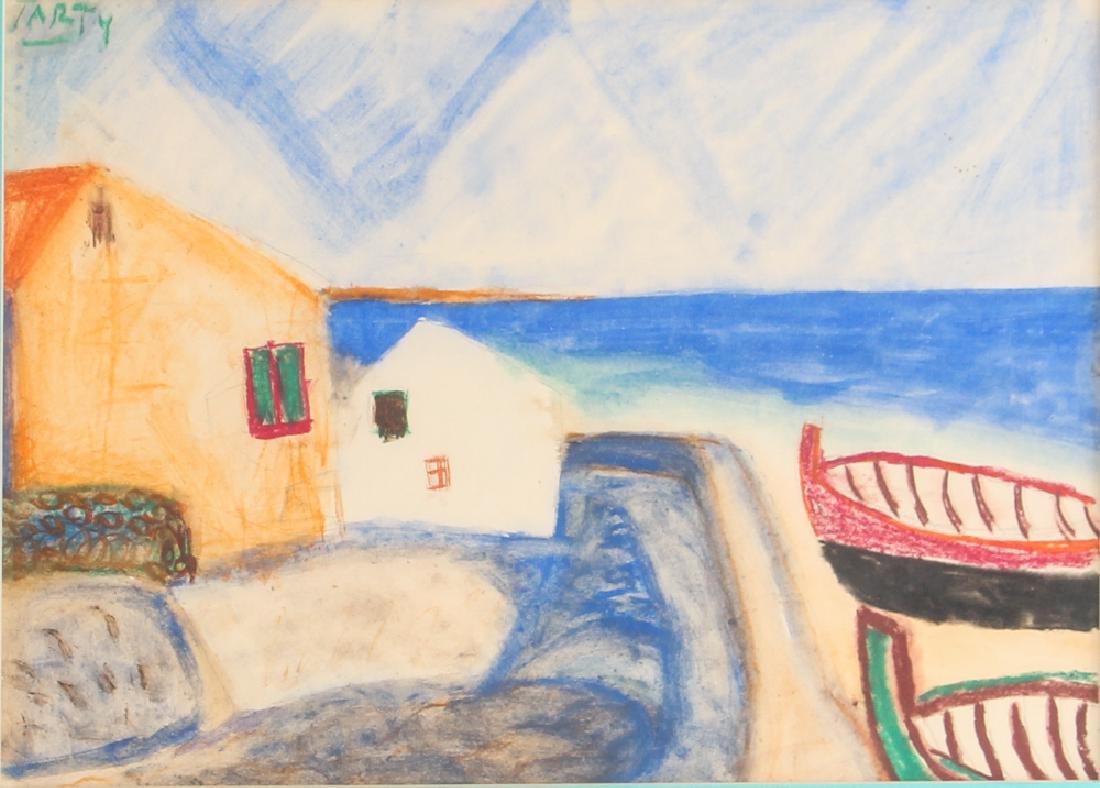 Vincente CLAVO GIL AKA Vincent Tarty watercolor Coastal