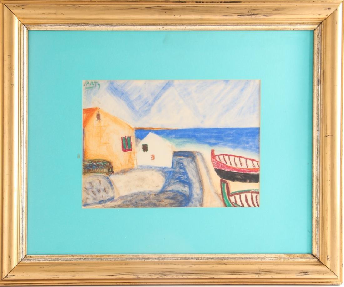 Vincente CLAVO GIL AKA Vincent Tarty watercolor Coastal - 2