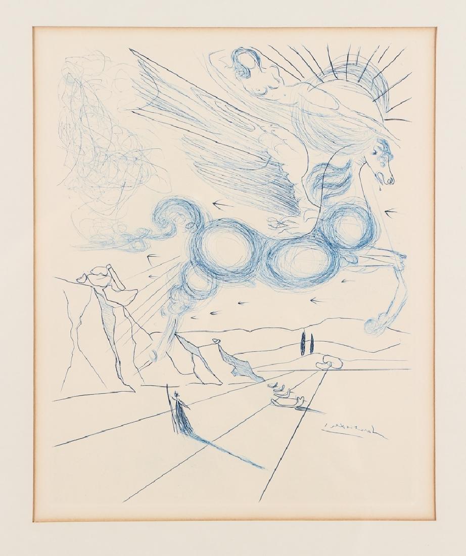 Salvador Dali Pegasus Etching