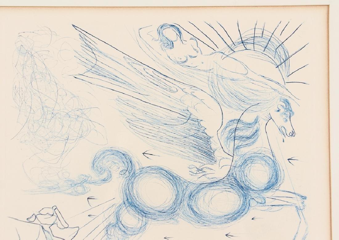 Salvador Dali Pegasus Etching - 4
