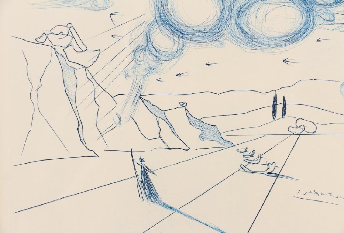 Salvador Dali Pegasus Etching - 5