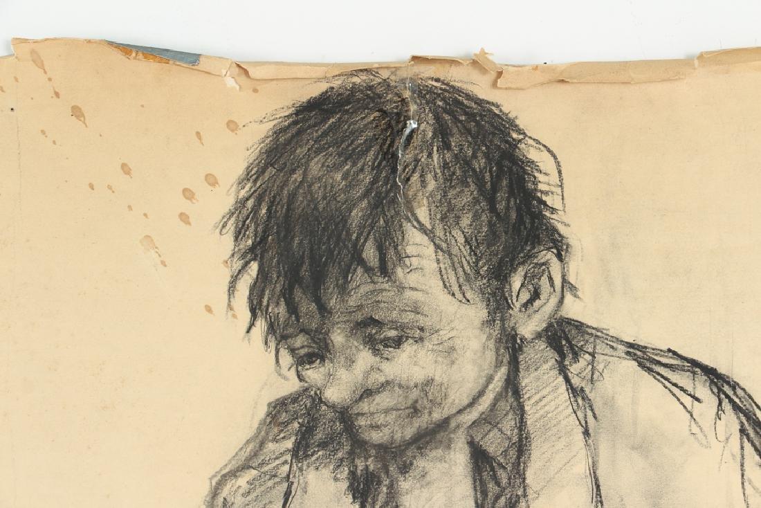 Oskar D'Amico charcoal drawing 2 Street People NY 1964 - 4