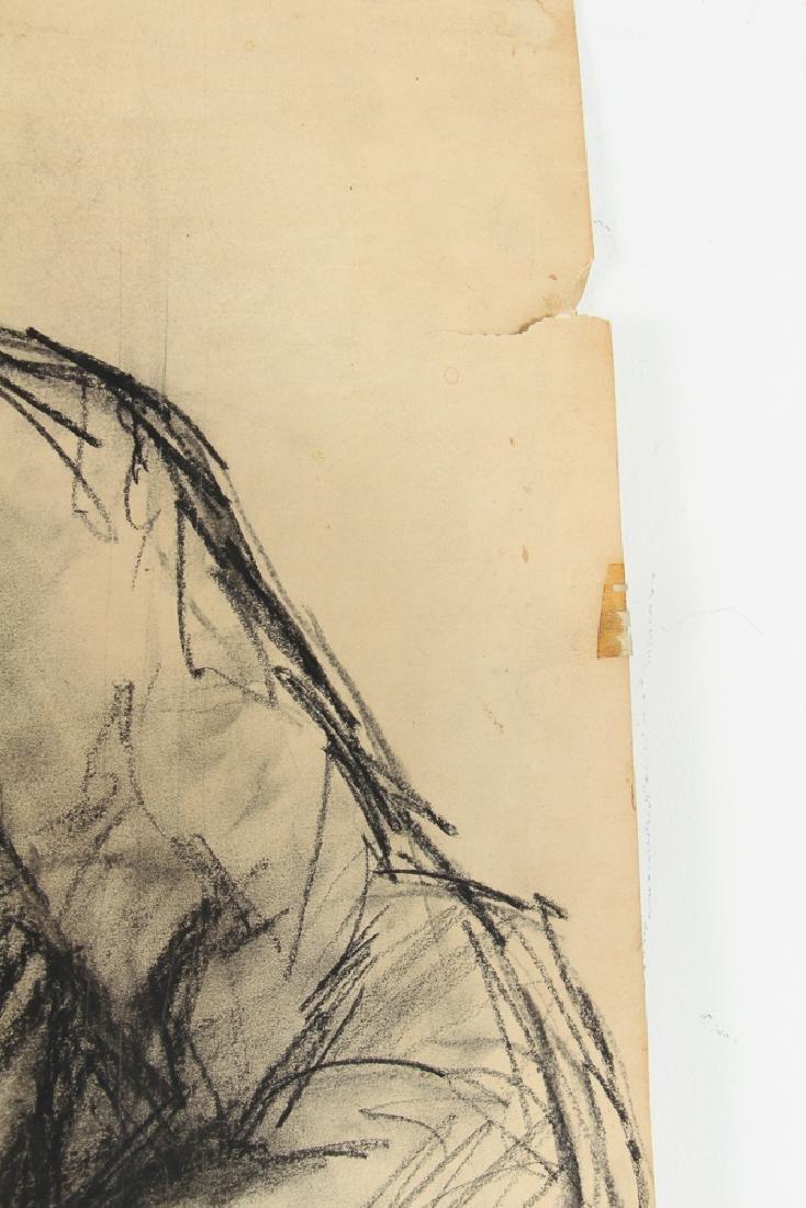 Oskar D'Amico charcoal drawing 2 Street People NY 1964 - 7