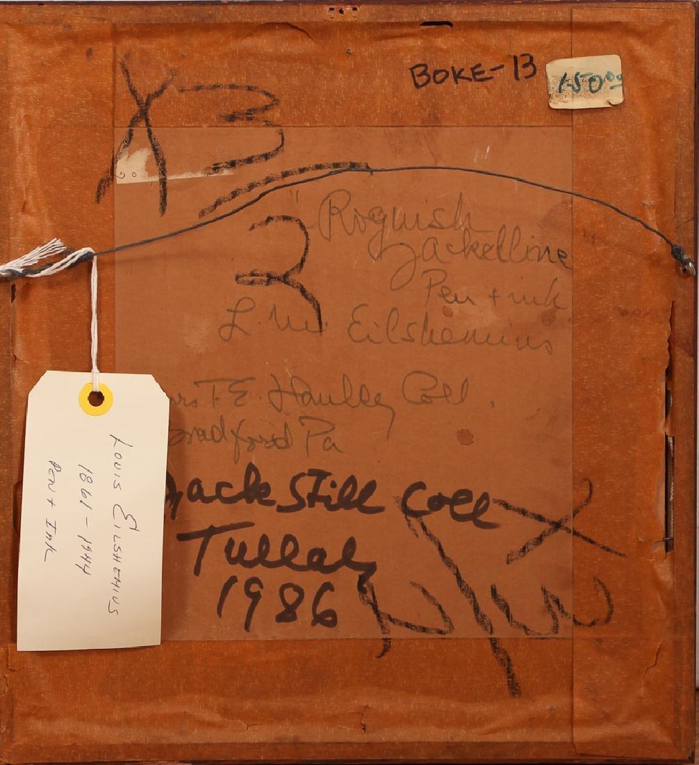 Louis Eilshemius ink drawing Roguish Jackelline - 5