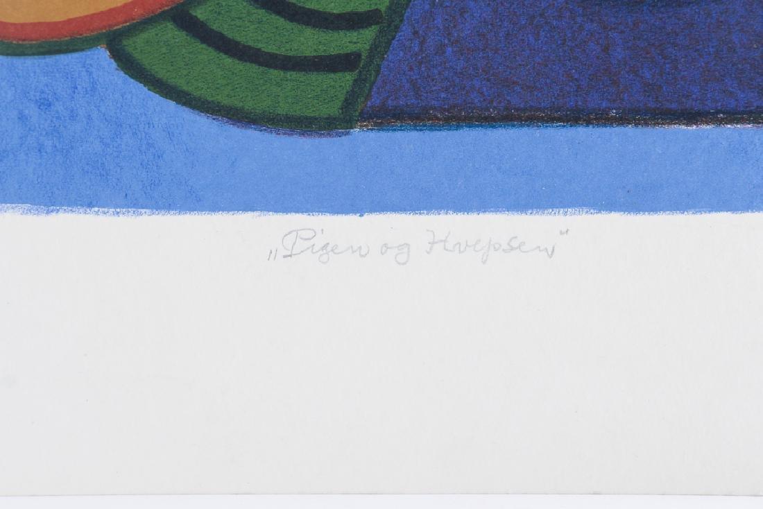 Henry Heerup 1982 lithograph Pigen og Hvepsemanden - 4