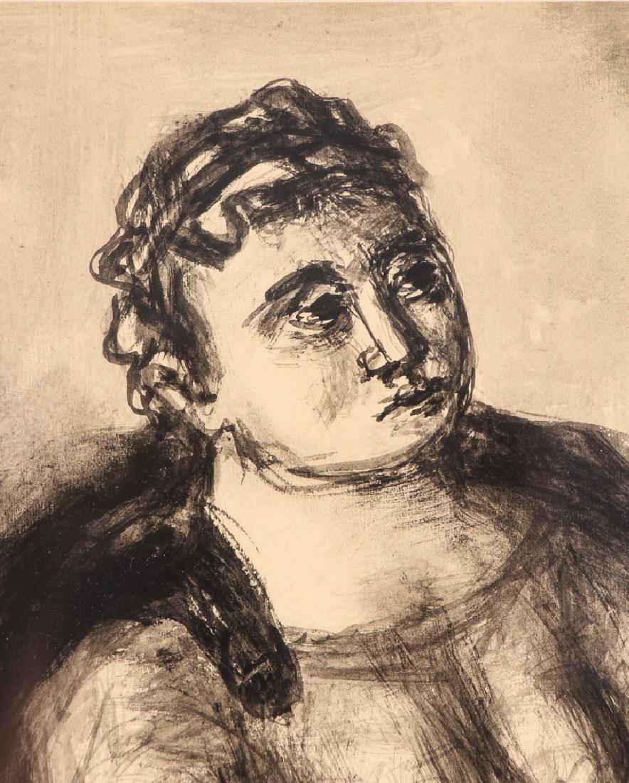 Benjamin Kopman ink wash drawing Seated Lady - 4