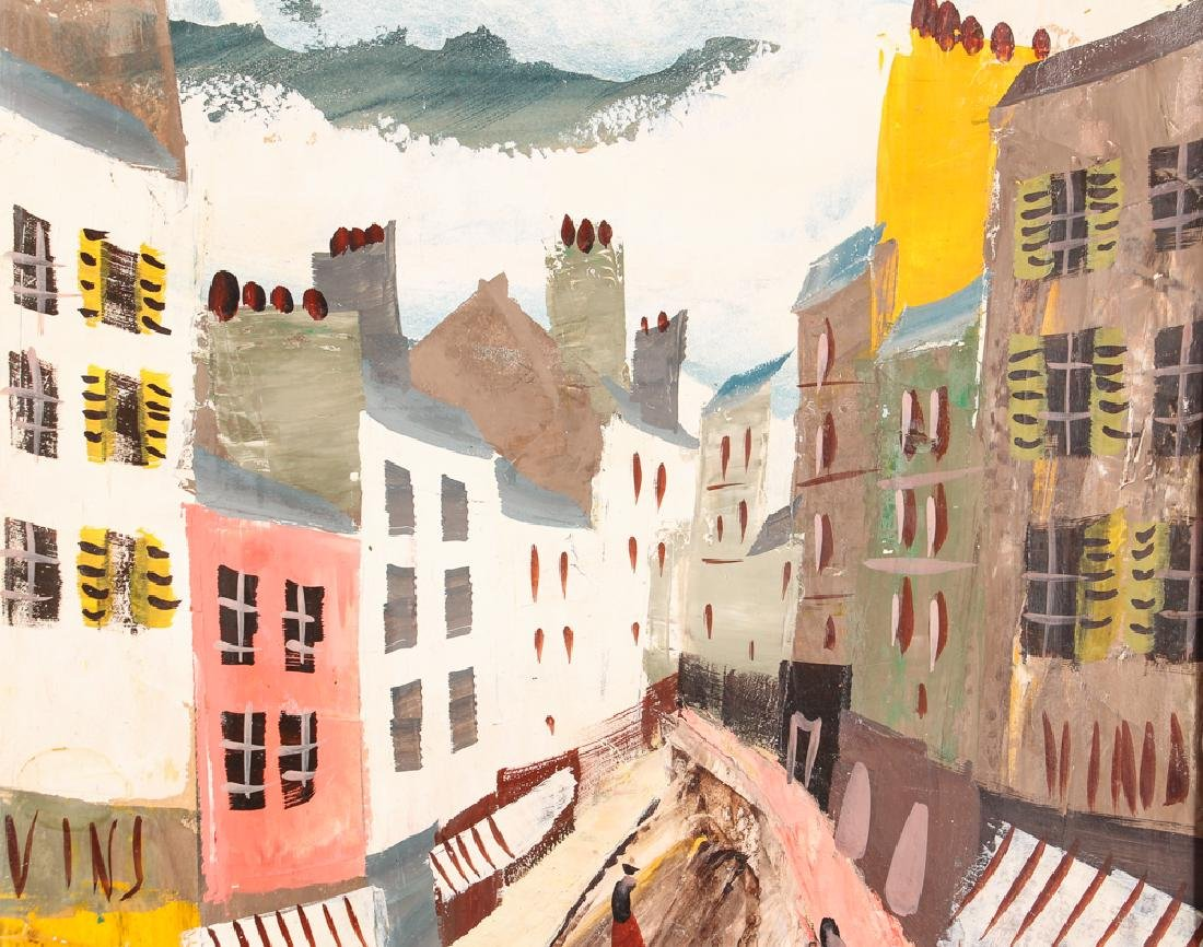 Charles Levier 1950'2 ptg.  Street in Paris - 6