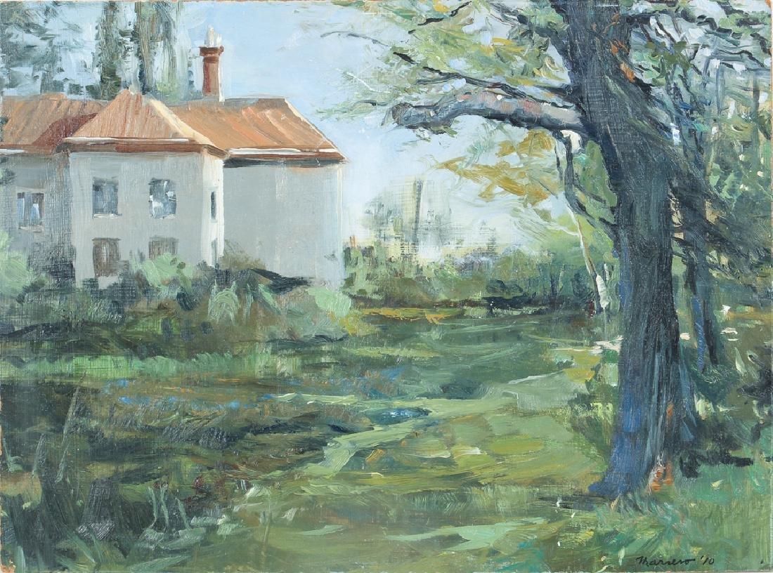 Onelio Marrero Country House Landscape Painting