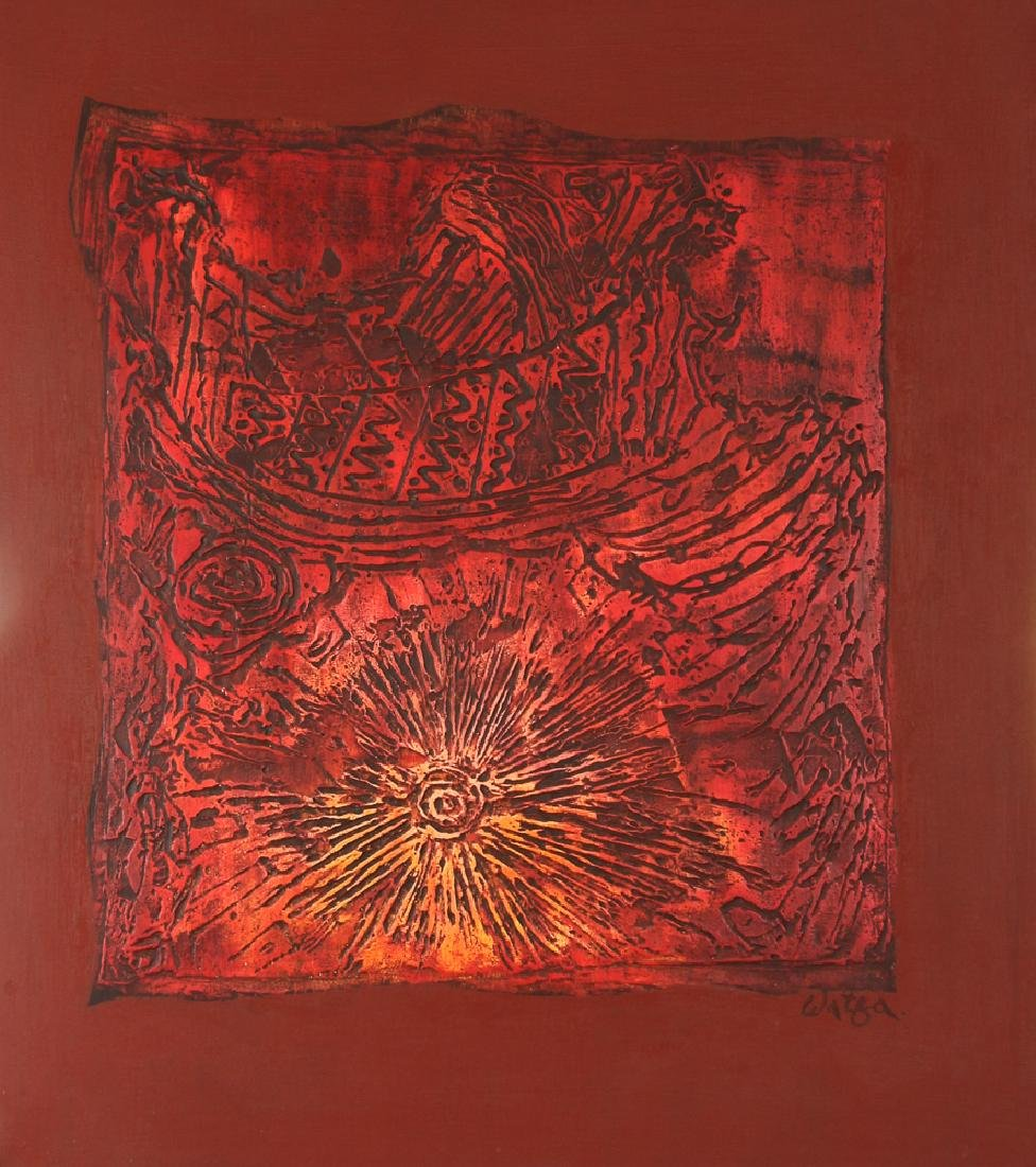Watfa Midani mixed media Abstract painting