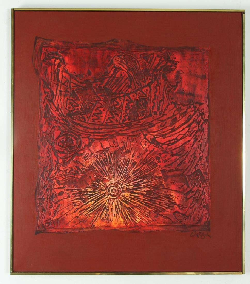 Watfa Midani mixed media Abstract painting - 2