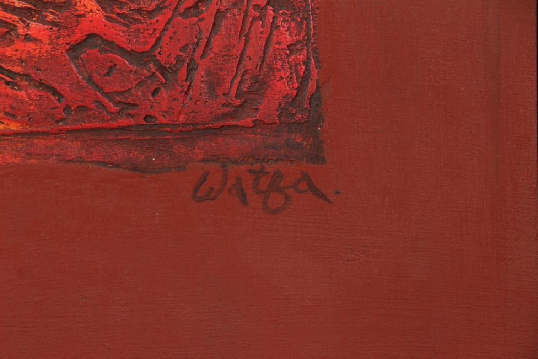 Watfa Midani mixed media Abstract painting - 3