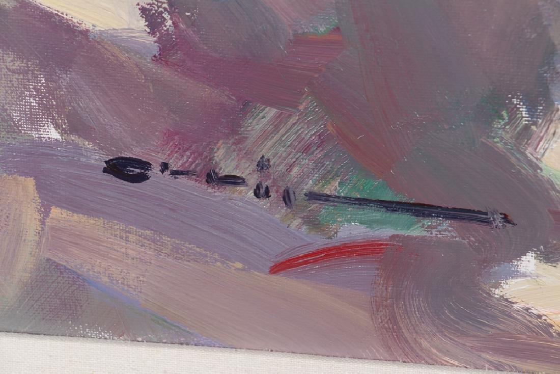 Ramon Orrit Gladiolas Acrylic Painting - 3