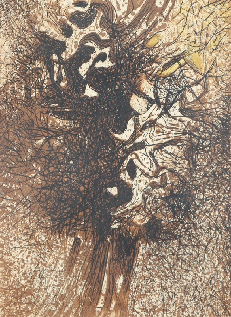 Mario Prassinos Abstract Etching