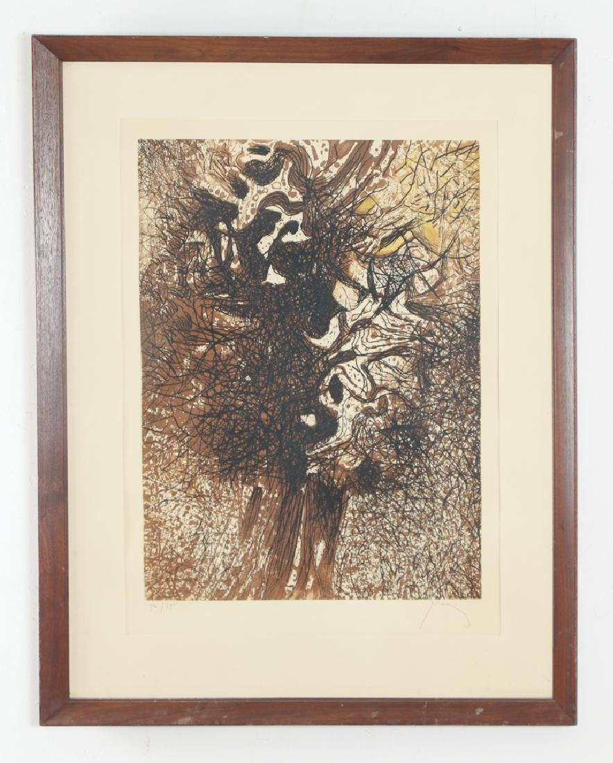 Mario Prassinos Abstract Etching - 2