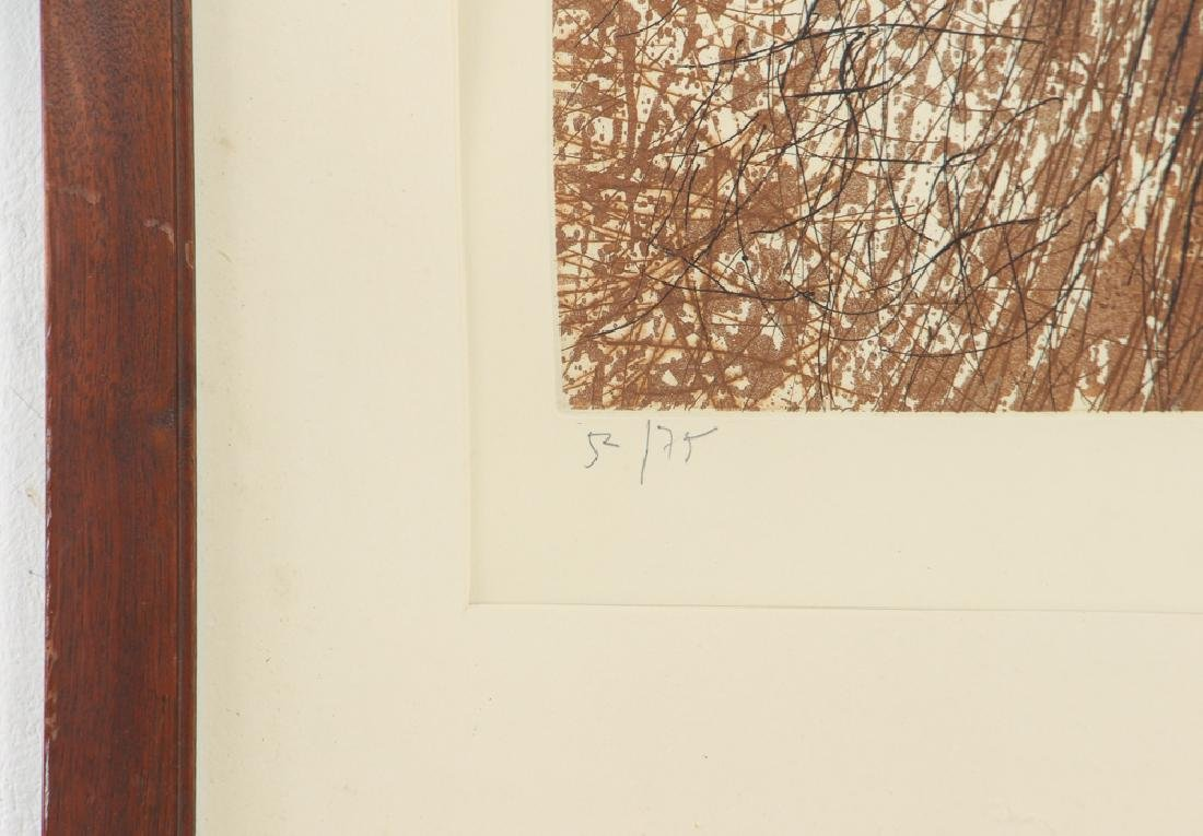 Mario Prassinos Abstract Etching - 4