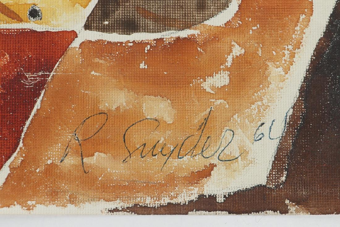 Russel Snyder watercolor Still Life with Playing Cards - 3