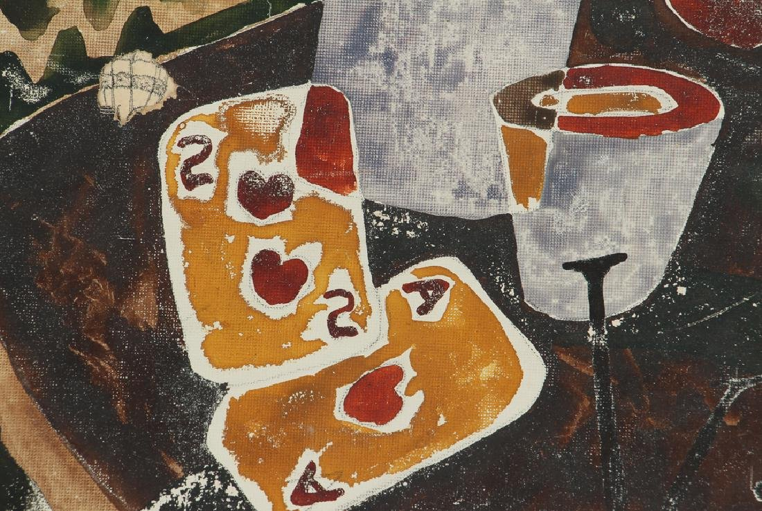 Russel Snyder watercolor Still Life with Playing Cards - 4